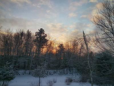 Sundown Winter New England Art Print