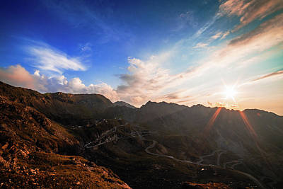 Photograph - Sunet Over Transfagarasan by Chris Thodd