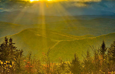 Photograph - Sunflare From Mt Ascutney by Vance Bell