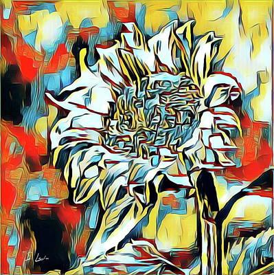 Digital Art - sunflower 02 ...35.05  Canvas Abstract Art for Sale by S Art