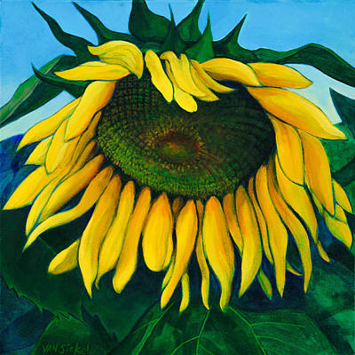 Acryllic Painting - Sunflower #1 by John Van Sickel