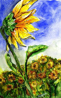 Painting - Sunflower 1 by Marilyn Barton