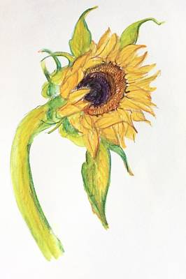 Painting - Sunflower 1 by Wendy Le Ber