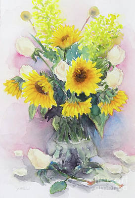 Painting - Sunflower-1 by Yoshiko Mishina