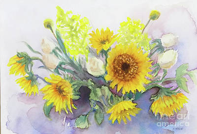 Painting - Sunflower-2 by Yoshiko Mishina