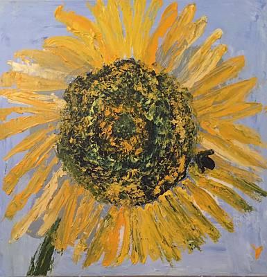 Plein Air Painting - Sunflower 3 by Julene Franki