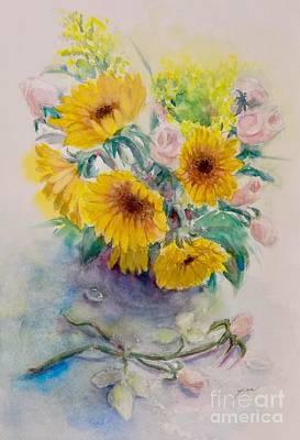 Painting - Sunflower-3 by Yoshiko Mishina