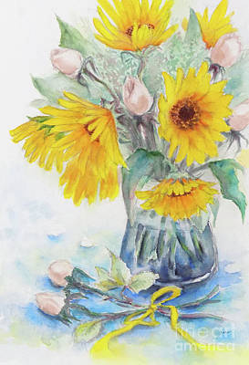 Painting - Sunflower-4 by Yoshiko Mishina