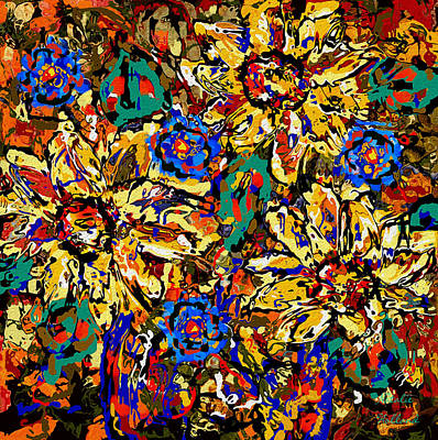 Painting - Sunflower Abstract by Natalie Holland