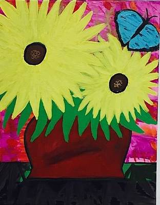 Painting - Sunflower Acrylic Painting by Jonathon Hansen