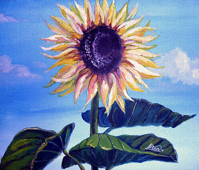 Painting - Sunflower by Alban Dizdari
