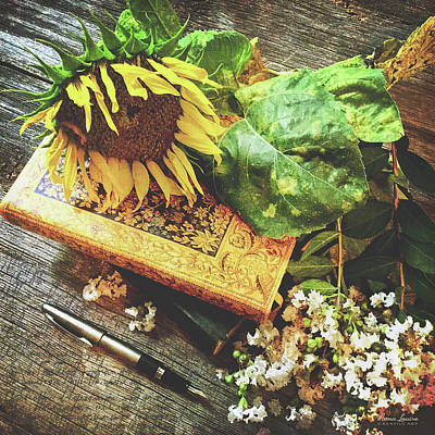 Photograph - Sunflower And Art Journal by Anna Louise