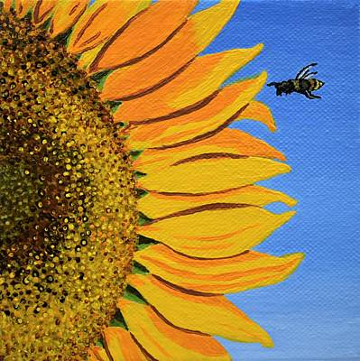 Sunflower And Bee Original