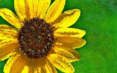 Digital Art - Sunflower Art by Barbara Chichester