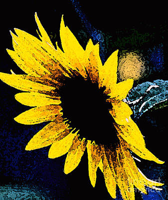 Sunflower Art  Art Print by Juls Adams