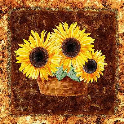 Painting - Sunflower Basket by Irina Sztukowski