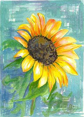 Painting - Sunflower Blue by Cathie Richardson