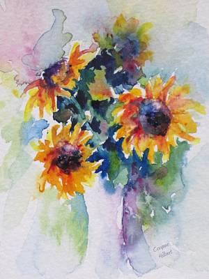 Sunflower Bouquet Art Print by Corynne Hilbert