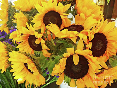 Photograph - Sunflower Bouquet by Jasna Dragun