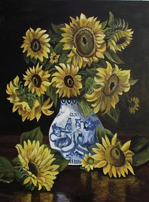 Painting - Sunflower Bouquet by Kim Selig