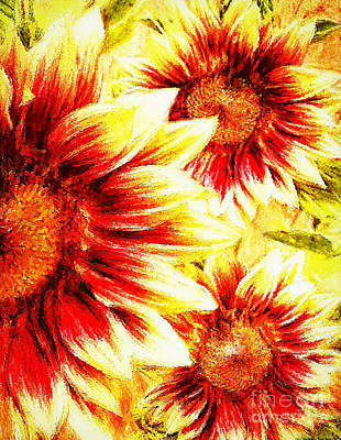 Digital Art - Sunflower Burst by Tina LeCour