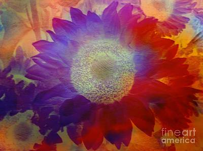 Painting - Sunflower Burst When Morning Breaks by Kimberlee Baxter