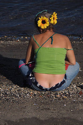 Photograph - Sunflower Butt by Robin Zygelman