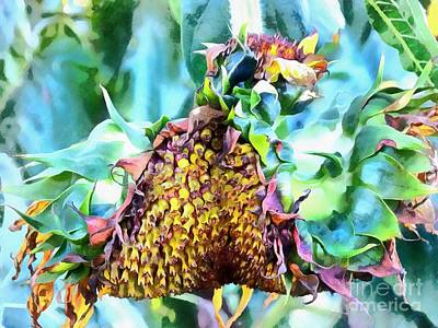 Sunflower Carnaval - Carnaval De Girasole Art Print by Janine Riley