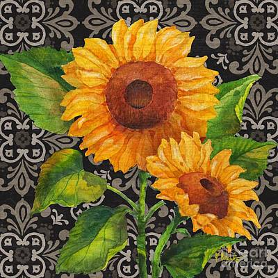 Sunflower Painting - Sunflower Chic I by Paul Brent