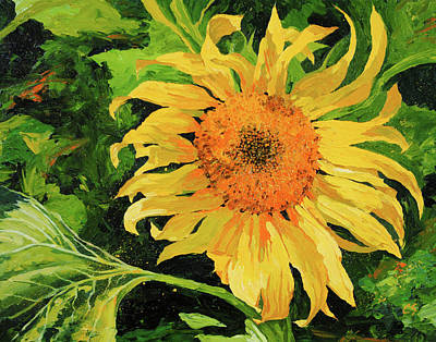 Painting - Sunflower by Chris Steinken