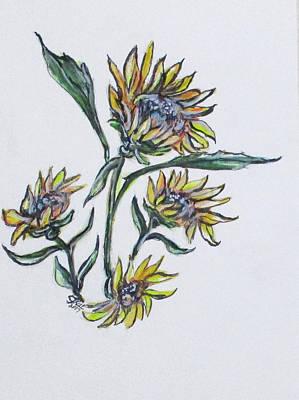 Kids Cartoons - Sunflower Crazy by Clyde J Kell