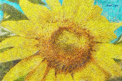 Sunflower - Da Art Print by Leonardo Digenio