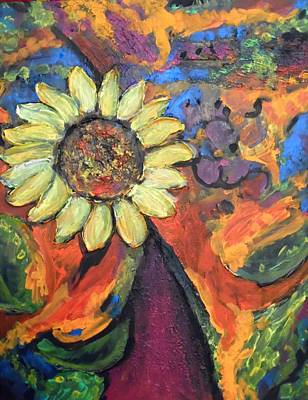 Painting - Sunflower Dance by Esther Newman-Cohen