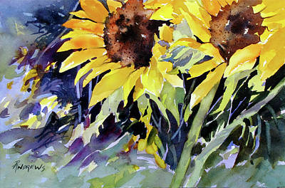 Painting - Sunflower Dazzlers by Rae Andrews