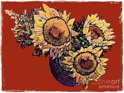 Photograph - Sunflower Decor 12 by Sarah Loft