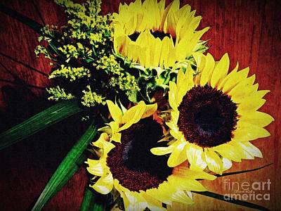 Photograph - Sunflower Decor 3 by Sarah Loft