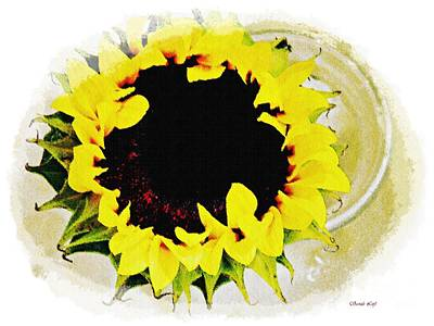 Photograph - Sunflower Decor by Sarah Loft