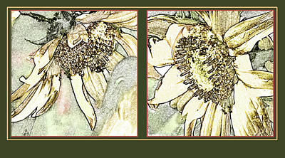 Dyptich Photograph - Sunflower Duo by Crystal Garner