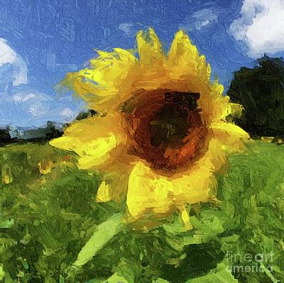 Digital Art - Sunflower by Eleanor Abramson
