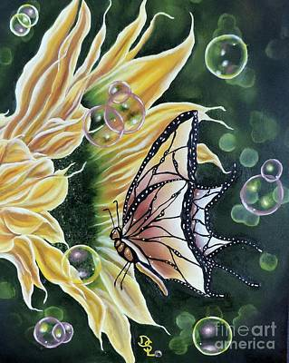 Painting - Sunflower Fantasy by Dianna Lewis