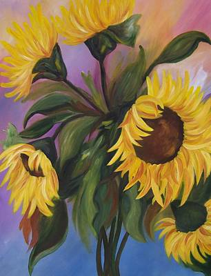 Painting - Sunflower Fantasy. Sold by Susan Dehlinger
