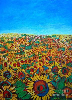 Day In The Life Painting - Sunflower Field by Ana Maria Edulescu