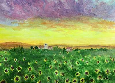 Painting - Sunflower Field by Anne Sands