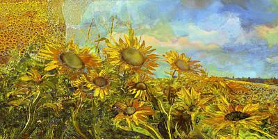 Sunflower Field Art Print by Anne Weirich