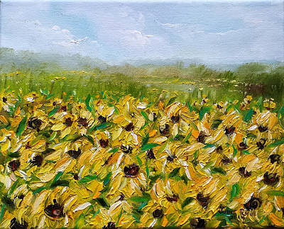 Painting - Sunflower Field by Judith Rhue