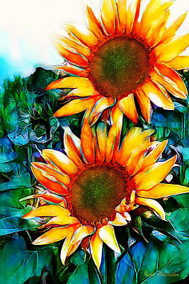 Digital Art - Sunflower Field by Pennie McCracken