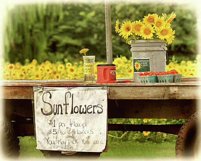 Photograph - Sunflower Field Roadside Stand by Carolyn Derstine