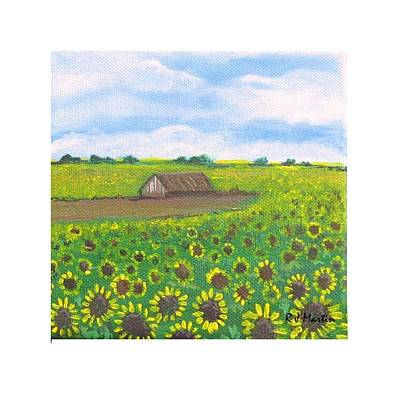Painting - Sunflower Field by Roberta Martin