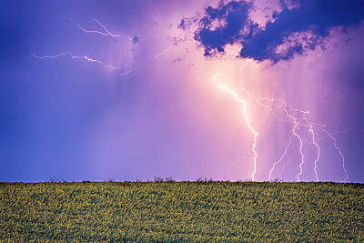 Sunflower Field Thunderstorm Art Print by James BO Insogna