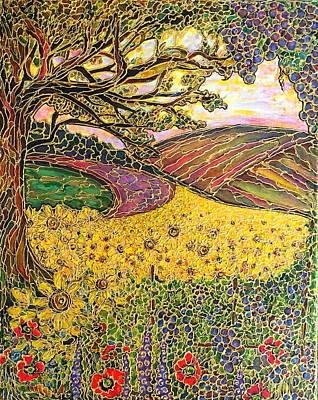 Painting - Sunflower Fields by Rae Chichilnitsky